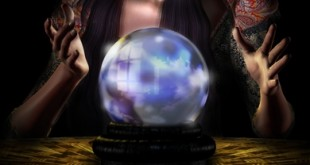 crystal ball with hands in 390 pixels